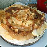 recette Sablé breton à la mousse au caramel,pommes et caramel beurre salé