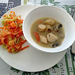 recette coquilles st jacques au tagliatelles de légumes