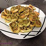 recette Palmiers feuilletés au pesto vert