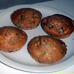 recette muffins au lait craquant m&ms et ses morceaux de banane
