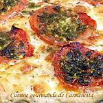 recette Pizza mozzarella et tomates provençales