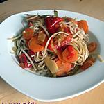 recette Nouilles chinoises aux légumes