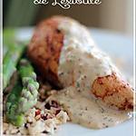 recette ~Poitrine de poulet poêlée, sauce à la crème et à l'estragon~