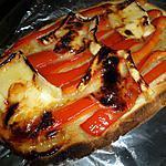 Bruschetta au poivrons chévre et miel