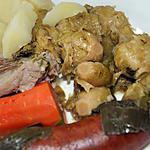 recette Petit salé aux choux de Bruxelles  et saucisses fumées