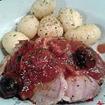 recette épaule de porc roulée, sauce aux olives