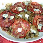 recette chou au chorizo et st agur