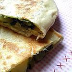 recette Crèpes turc épinard mozza et emmental