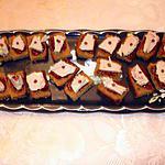 recette Bouchées de pains d'épice sur lit de confiture de figue et fois gras