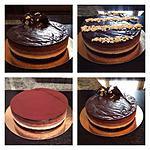 recette Coucou les filles encore de la gourmandise mais cette fois pour les fans de chocolat je vous propose ce délicieux entremets aux 3 chocolats