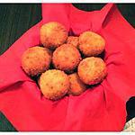recette Bonsoir les filles voilà une recette gourmande de Croquettes de pommes de terre farcies au fromage