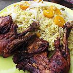 recette riz au curry et au poulet frit