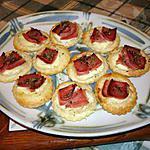 recette mini tartelettes fines au jambon -origan et crème fraiche