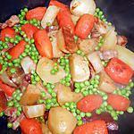 recette Trio de légumes au lard