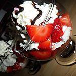 Coupes de fraises viennoise chocolaté