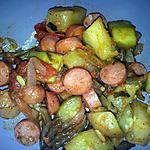 recette courgettes poelées aux knackis