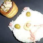recette Vol au vent aux quenelles jambon et olives