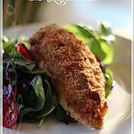 recette ~Poulet en croûte de parmesan~