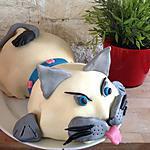 recette Gâteau chat 3D