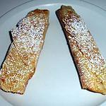 recette cigares à la crème d'amande aux morceaux de poires
