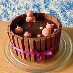 recette Gâteau drôle les cochons dans la boue