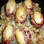 recette Pommes de terre farcies à la chair à saucisse