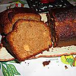 recette CAKE AUX DEUX FARINES DE CHATAIGNE, MARMELADE DE FIGUE ET POMMES CONFITES