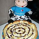 recette tarte chantilly vanille banane et coulis de chocolat