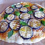 recette Pizza aux aubergines, gorgonzola, mozzarella et parmesan