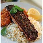 recette ~Filet de saumon à la dijonnaise avec purée de carottes et céleri-rave~