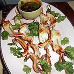 recette Brochettes d encornets sauce pimentée