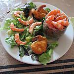 recette assiette crevettes  verrine lentilles ,carottes, pommes;; et