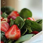 recette ~Salade d'épinards et fraises~