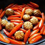 recette Carottes et champignons de Paris glacés