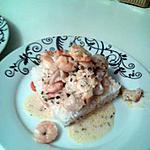recette Poisson et crevettes en sauce