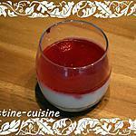 recette Panna cotta au coulis de framboise