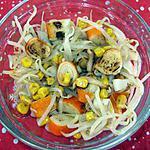 recette pousses de soja au surimi