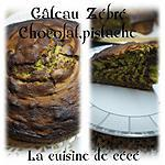 recette Gâteau zébré chocolat/pistache