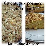 recette Gâteau aux pommes façon crumble