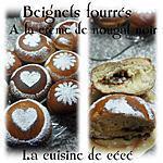 recette Beignets fourrés à la crème de nougat noir