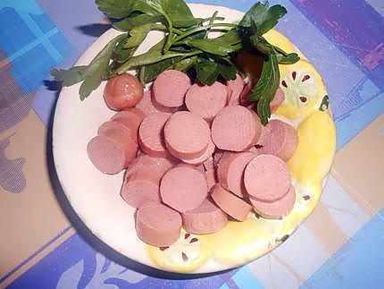 Omelette aux saucisses wurstel 430