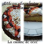 recette Gâteau au citron,fraise meringuée