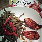 recette Aiguillettes de poulet en papillote paprika et tomate