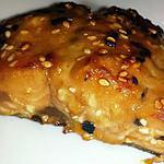 recette Saumon rôti au miel et au sésame