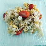 recette Riz, œuf et tomates