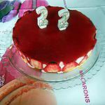 recette Bavarois aux fraises et génoise amandes