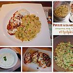 recette Poulet à la grecque, couscous aux herbes et Tzatziki