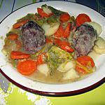 Joues de porc mijotées aux légumes