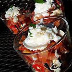 recette Verrines de tomates cerise au chévre