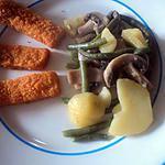recette Poêle de pomme de terre , champignon et haricot